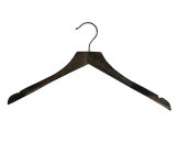 Espresso Brown 17 Inch Coat Hanger-Raw Steel Hardware
